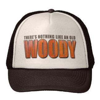 Viejo Woody Gorros Bordados