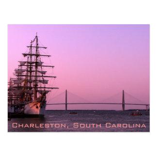 Viejo y el nuevo en Charleston Tarjeta Postal