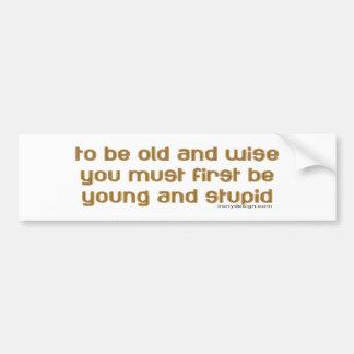 viejo y sabio pegatina para auto