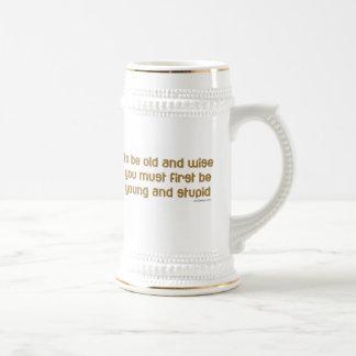 Viejo y sabio refrán divertido jarra de cerveza