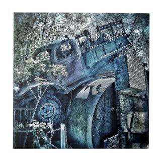 Viejos coches y desguaces, 01 retros azulejo cuadrado pequeño