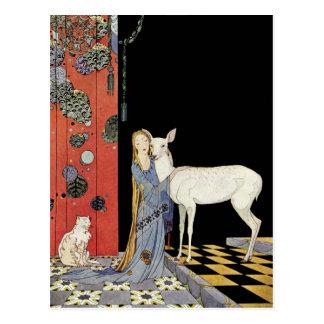 Viejos cuentos de hadas franceses: Bonne-Biche Tarjeta Postal