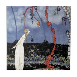 Viejos cuentos de hadas franceses: Un árbol de la  Azulejo Cuadrado Pequeño