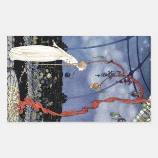 Viejos cuentos de hadas franceses: Un árbol de la Pegatina Rectangular