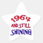 viejos diseños del cumpleaños 50years calcomanías forma de estrella personalizadas