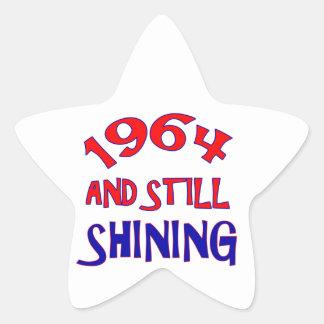 viejos diseños del cumpleaños 50years pegatina en forma de estrella