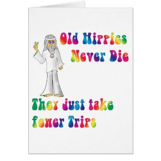 Viejos hippies tarjeta de felicitación