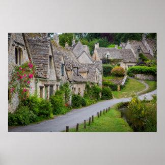 Viejos hogares construidos para los tejedores póster