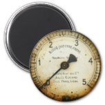 viejos indicador/instrumento/dial/metro de la pres imán redondo 5 cm