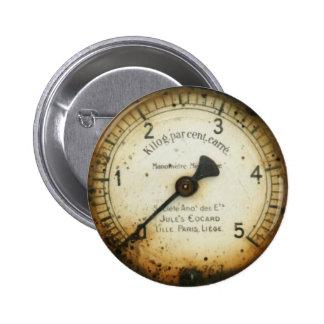 viejos indicador/instrumento/dial/metro de la pres pin redondo de 2 pulgadas