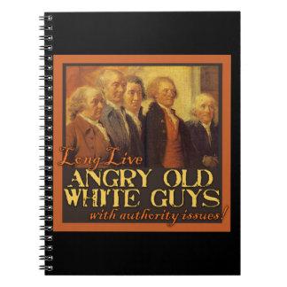 Viejos individuos blancos enojados… como los funda libro de apuntes