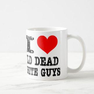 Viejos individuos blancos muertos taza de café