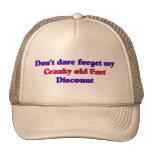 Viejos irritables fart descuento gorro