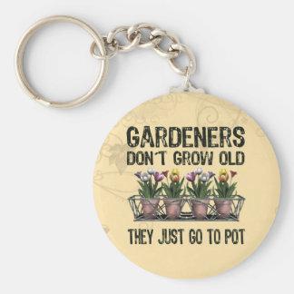 Viejos jardineros llaveros
