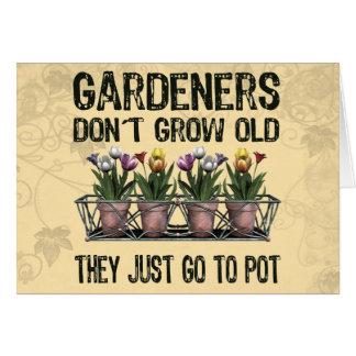 Viejos jardineros tarjeta de felicitación