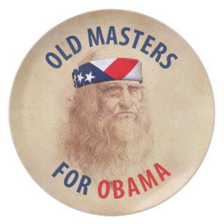 Viejos maestros para Obama Platos De Comidas