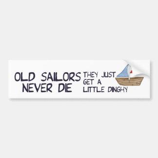 Viejos marineros etiqueta de parachoque