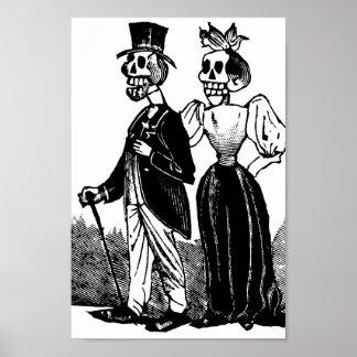 Viejos pares esqueléticos circa 1900s tempranos, M Póster