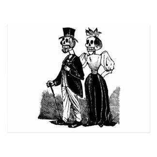 Viejos pares esqueléticos circa 1900s tempranos, postal