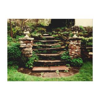 Viejos pasos de piedra de Graden Impresion De Lienzo