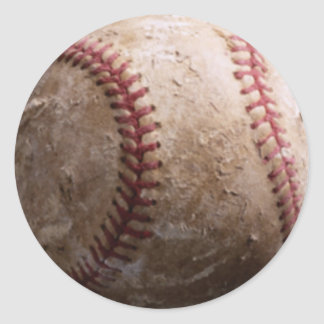Viejos pegatinas rugosos llevados del béisbol pegatinas redondas