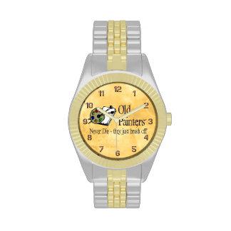 Viejos pintores relojes de pulsera