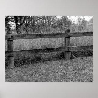 Viejos postes de la cerca impresiones
