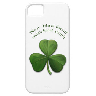 Viejos refranes irlandeses en productos del diseño iPhone 5 carcasa
