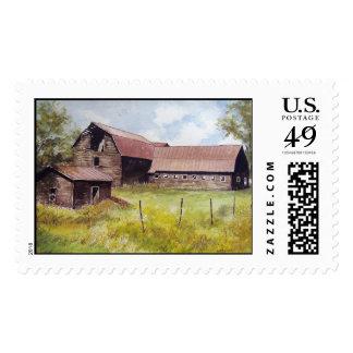 Viejos sellos del granero y del cortijo