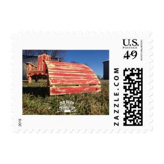 Viejos sellos rústicos de Adirondack del granero