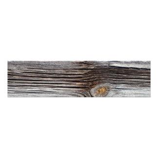 Viejos tableros de madera grises impresión fotográfica