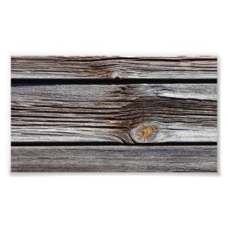Viejos tableros de madera grises impresion fotografica