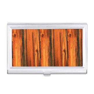 viejos tableros del granero del pino cajas de tarjetas de presentación