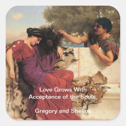 Viejos viejos pares del Griego de la historia Pegatina Cuadrada