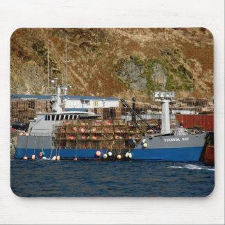 Viekoda Bay, Crab Boat in Dutch Harbor, Alaska Mouse Pad