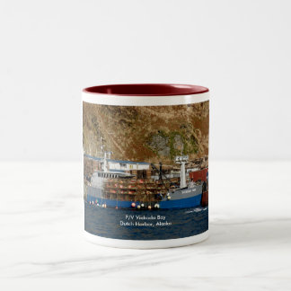 Viekoda Bay, Crab Boat in Dutch Harbor, Alaska Two-Tone Coffee Mug