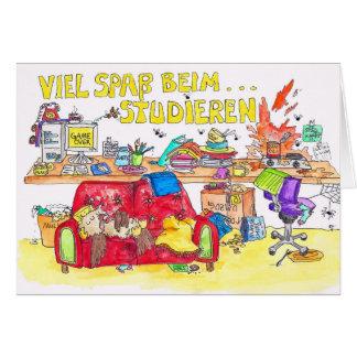 VIEL SPASS BEIM STUDIEREN greeting card