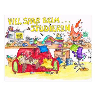 VIEL SPASS BEIM STUDIEREN postcard by Nicole Janes