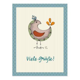 Viele Grüße! Postcard