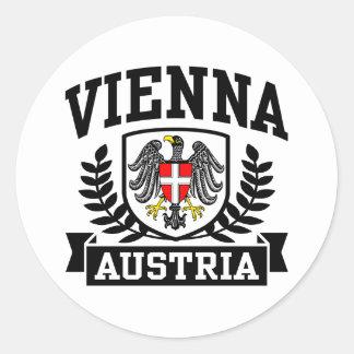 Viena Austria Pegatina Redonda