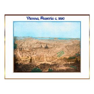 Viena durante la postal imperial de las épocas