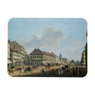 """Viena, la """"promenade"""", 1824 (aceite en lona) imanes flexibles"""