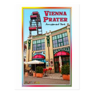Viena - parque colorido de Prater Postal