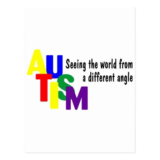 Viendo el mundo de un diverso ángulo (brillante) postales