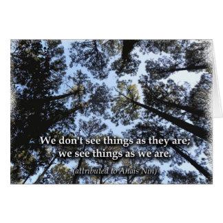 Viendo las cosas (árboles) tarjeton