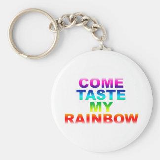 Viene el gusto mi arco iris - Grunge de la alterna Llaveros Personalizados
