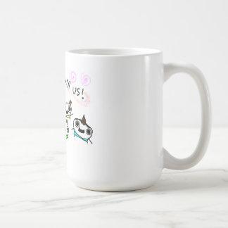 Viene el juego con nosotros taza de café