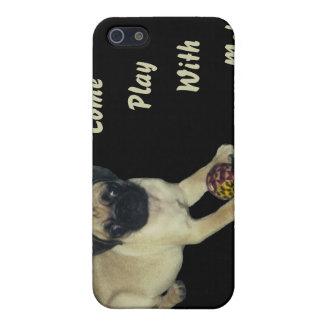 Viene el juego conmigo perrito del barro amasado iPhone 5 carcasas