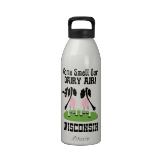 Viene el olor nuestro aire Wisconsin de la lecherí Botella De Agua