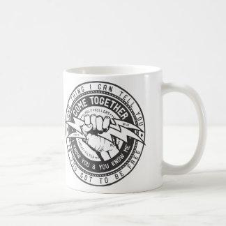 Viene junto el logotipo de la unión taza de café
